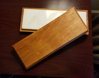 Marble & Cherry Serving Board