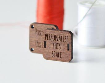 Custom Wooden Tags - Custom Engraved Tags - Custom tags - Laser Custom Tags