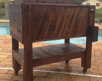 Rustic Pallete Wooden Cooler