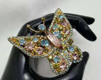 Rhinestone Butterfly Pin/Pendant