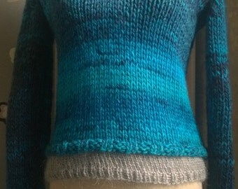 Blue turkis Sweater , size 38 (small)