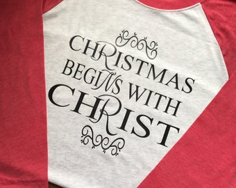 Womens christmas raglan!
