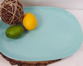 Vintage Retro Kitchen Melmac Serving Platter Aqua, Imperial Ware USA, Vintage Melamine Dining