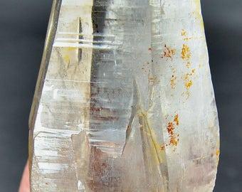295 Grams Perfect Terminated Lemurian Quartz Crystal From Baluchistan