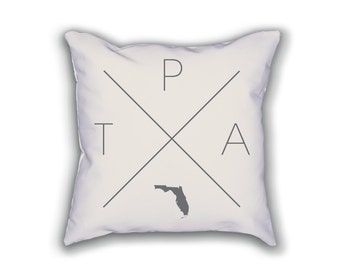 Tampa Home Pillow - Florida Pillow, Florida Home Decor, Tampa Home Decor, Florida Home Pillow, Florida Throw Pillow