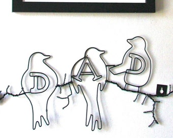 Dad Wire Wall Art Sign: LTWA011
