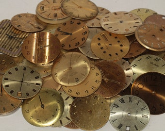 60 Pieces Face Dials Old Watch For Parts Steampunk Arts  parts  Vintage Soviet Watch Vintage watch