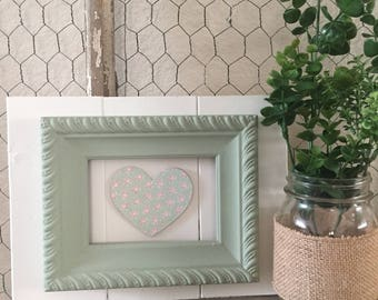 Mint framed heart
