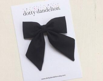 Black Hair Bow | Black Bow, Girls Black Hair Bow, Black Hair Clip, Girls Hair Clips, Black Hair Clip, Girls Black Bow