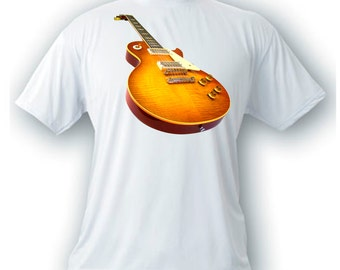 Les Paul 1959 vintage image guitar t-shirt gibson rock n roll music