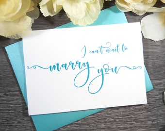 Color, I Can't Wait to MARRY YOU Card, Wedding Card, To My Groom Card, To My Bride Card, Groom Gift for Bride, Bride Gift for Groom