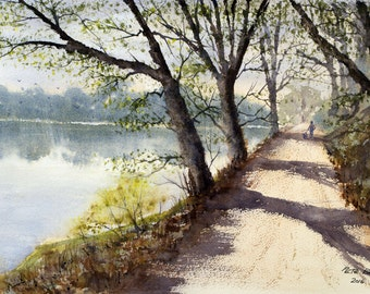 Afternoon Stroll - An Original Watercolour Painting