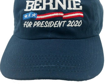 Unique Bernie Sanders 2020 Hat Cap DEMOCRATIC Presidential Nominee low profile 100 % cotton , adjustable