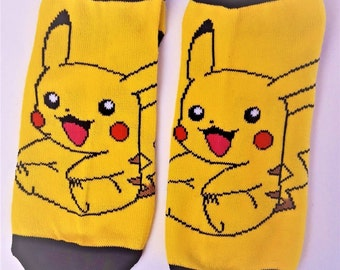 Pokemon Go! Pikachu In Action Yellow Ankle Sock-Set