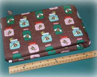 2 Yards Windham Fabrics Mouse Camp Brown Fireflies NEW