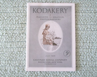 Kodakery A Magazine for Amateur Photographers July 1929 Paperback Vintage