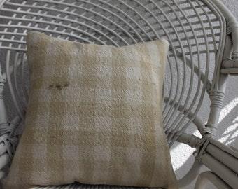 16x16 Turkish Kilim Pillow Striped Kilim Pillow Natural Pillow Decorative Kilim Pillow Home Decor Cushion Covers 991