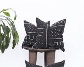 Line & Dot Mudcloth Pillow Covers | Various Sizes