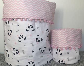 Large fabric storage bucket