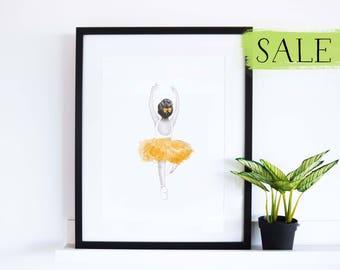 Little Alessia Ballerina Print