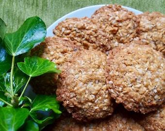 Anzac (oaty coconut) Cookies Biscuits Vegan