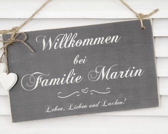Personalized wooden sign door sign name plate to the wedding
