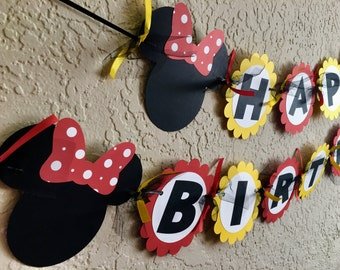 Minnie Mouse Birthday Banner, Minnie Mouse Banner, Minnie Mouse Birthday, Minnie Mouse Party, Minnie Banner, Minnie Shirt