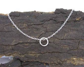 Necklace pendant ring silver