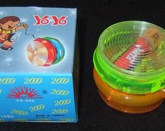 Yo yo light up version YS-005 2000 vintage 1986 boxed made in Taiwan