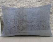 Teal Color Overdyed Pillow Decorative Pillow 16 x 24 Kilim Pillow Ethnic Pillow Aztec Pillow Kilim Bolster Bohemian Pillow One Colour Blue