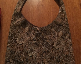 Beautiful Brown Suede Tote Bag - Reversible