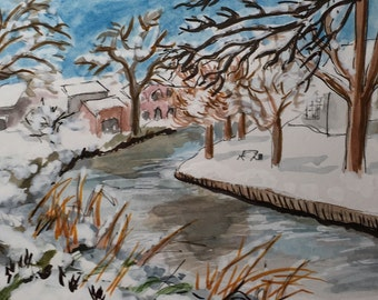 Histon Brook greetings card