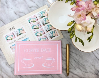 Coffee Date Soon Greeting Card