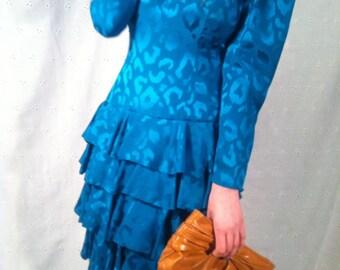 Silk Leopard Print Newman Marcus Dress