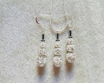 Small snowman and earrings set