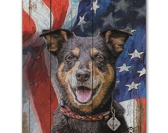 "8"" X 10"" Custom Pet Portrait Print (Rustic Style)"