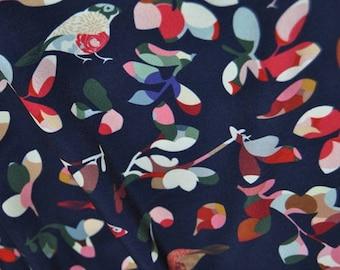 Bird fabric Navy Blue Fabric