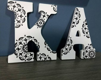 Wooden Initial with Mandala Print - All Letters Available