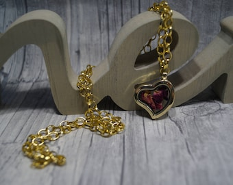 "Chain ""Dried rose petals"""
