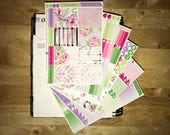 Botanical Vertical Weekly Kit Planner Stickers for Erin Condren LifePlanners