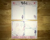 Mermaid Kisses Notes Page Kit Vertical & Horizontal Planner Stickers for Erin Condren LifePlanners