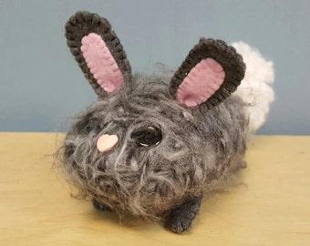 Handmade Fuzzy Brown Bunny
