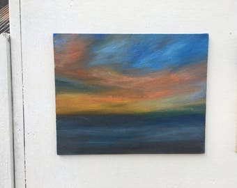 oil painting - fire in the sky