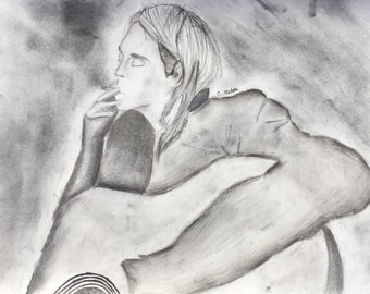 Smells like teen spirit, charcoal on paper
