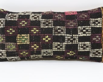 12x24 Decorative Kilim Pillow Chic Pillow Home Deoor Ethnic Pillow Cushion Cover 12x24 Embroidered Kilim Pillow Sofa Pillow  SP3060-748