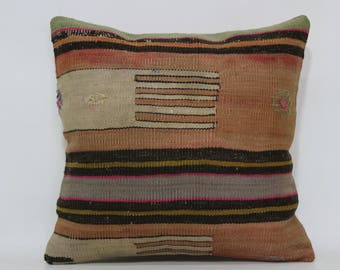 Home Decor Ethnic Pillow Sofa Pillow 16x16 Turkish Kilim Pillow Bed Pillow Anatolian Pillow Decorative Pillow Cushion Cover  SP4040-2336