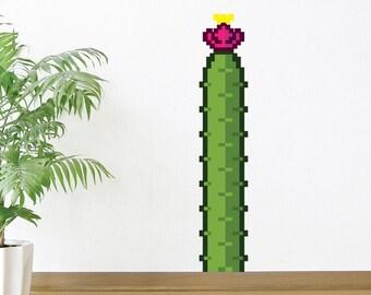 8 Bit Cactus Wall Decal