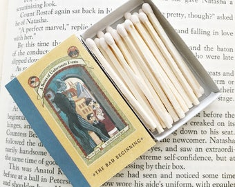 A Series of Unfortunate Events // Lemony Snicket // Book Matches // Stocking Stuffers