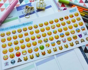 Emojis - Planner Sticker - Emoji Stickers - Mini Planner Sticker - Emoji - EC Planner Sticker - Happy Mail Planner Sticker - Emojis Stickers