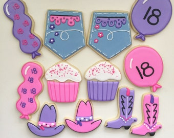 Western Cookies, Cowgirl Cookies, Cowboy Hat Cookies, Western Birthday, Party Favors, Treat Bags, Dessert Table, Cowgirl Birthday
